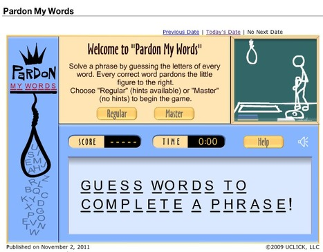 Games - Pardon My Words | Games & Puzzles | Technology Ideas | Scoop.it
