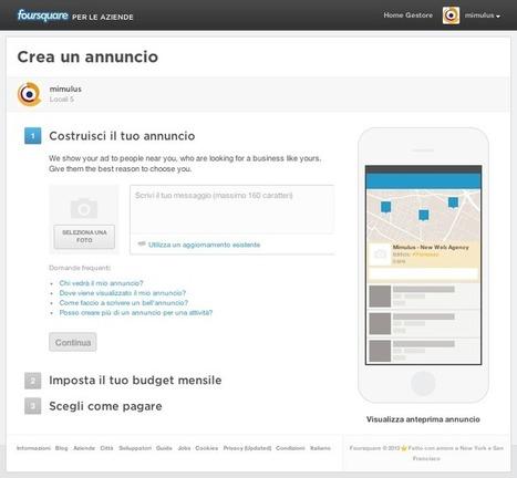 Local Advertising: gli annunci foursquare arrivano anche in Italia! | Social media culture | Scoop.it