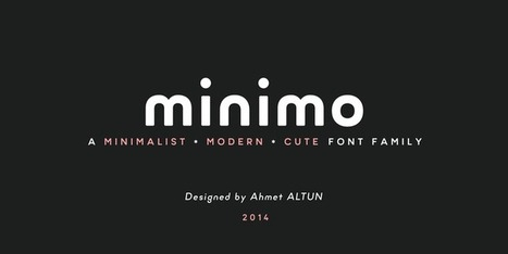 Free font Minimo | Red Article Blog | fonts | Scoop.it