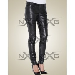 Allure Leather Pant | Womens Leather Pants | Nylon Lining Leather Pant for Women | LeatherNXG Online | Scoop.it