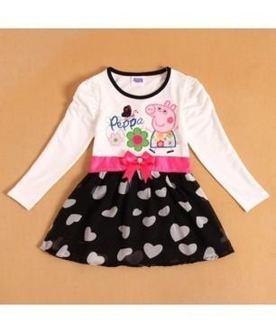Peper Pig Kids Girls Sweet Long Sleeve Dress Baby Spring Summer Wear | Clothing at SMA-STAR | Scoop.it