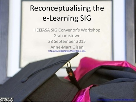 Reconceptualising the e-learning SIG | Academic Staff  Development | Scoop.it