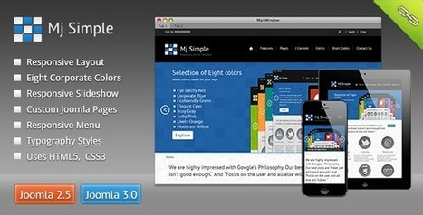 Mj Simple - Responsive Joomla Template | Design and Lean Manufacturing and Application | Scoop.it