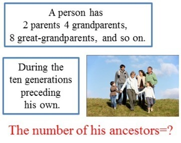 The number of his ancestors   THE MORE YOU PRACTICE MATHS, THE MORE SURE YOU ARE!   Scoop.it