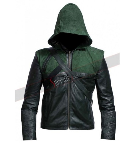 Stephen Amell Arrow Oliver Queen Green Jacket | Famous TV Series Leather Jackets | Scoop.it