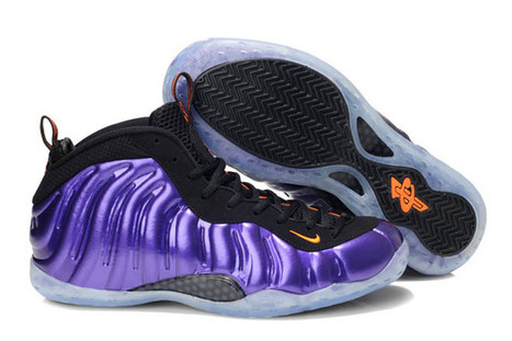 Penny Hardaway Shoes-Foamposite One NBA Phoenix Suns Electro Purple/Total Orange | new and share list | Scoop.it