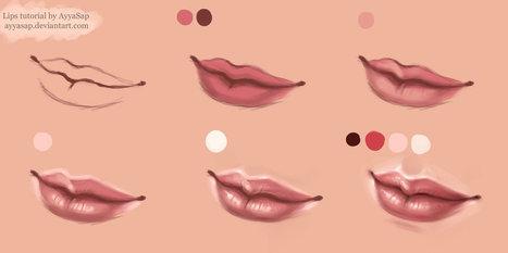 Lips Tutorial Photoshop | Drawing | Scoop.it