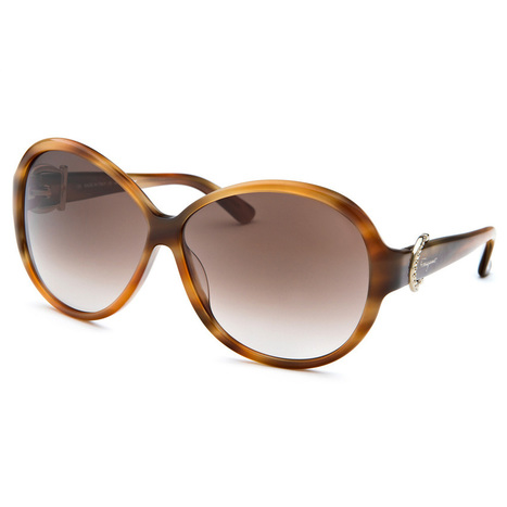 Ferragamo Brown Women's Butterfly Striped Honey Sunglasses (NS426)   Online Shopping   Scoop.it