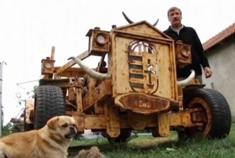 Man Drives Car Made Almost Entirely Out of Wood | Strange days indeed... | Scoop.it