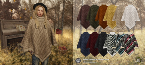 ::K::: ::K:: Autumn Knit Poncho Homme/Femme @ The Seasons Story Autumn   Style of LIFE   Scoop.it