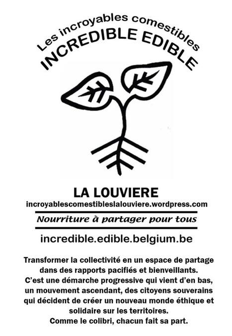 Incroyables Comestibles La Louvière : participez vous aussi en imprimant nos affiches pour les placer à votre fenêtre | Côté Jardin | Scoop.it