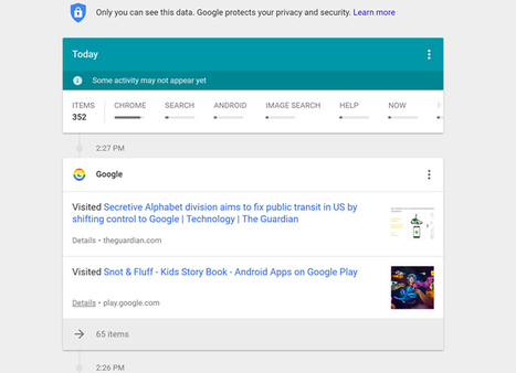 Google has a new tool that shows you how much it really knows about you   Security News You Should Know   Scoop.it