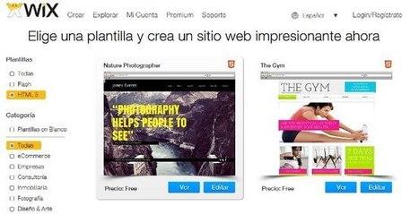 Wix facilita la creación de páginas con HTML5 a través de plantillas | Bibliotecas Escolares Argentinas | Scoop.it