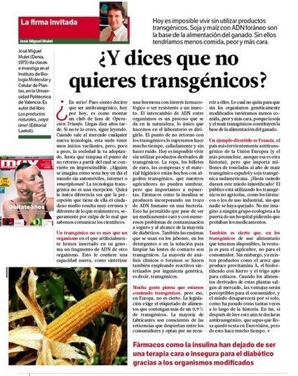 Es imposible vivir sin productos transgénicos | Alimentos Transgénicos | Scoop.it