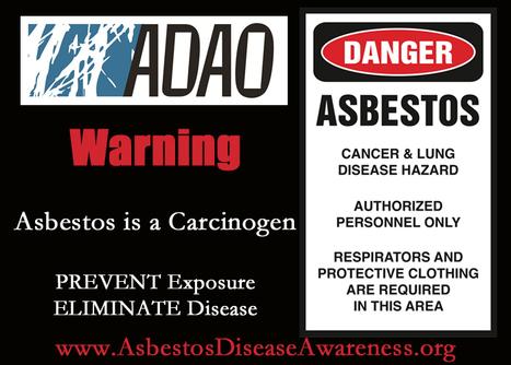 "ADAO GRAPHIC: ""Warning: Asbestos is a Carcinogen. PREVENT Exposure. ELIMINATE Disease."" | Asbestos and Mesothelioma World News | Scoop.it"