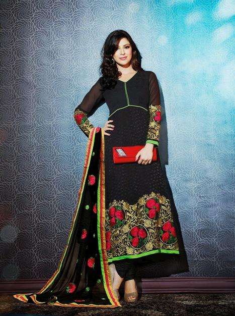 Buy Dazzling Churidar Suit Online | facebook page fashionheena.com | Scoop.it