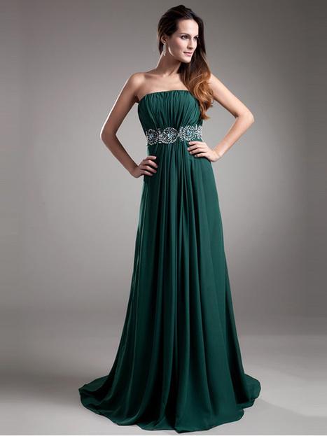 Modest A-line Beading Sequined Chiffon Evening Dress : KissChic.com | Kisschic Fashion Dresses | Scoop.it