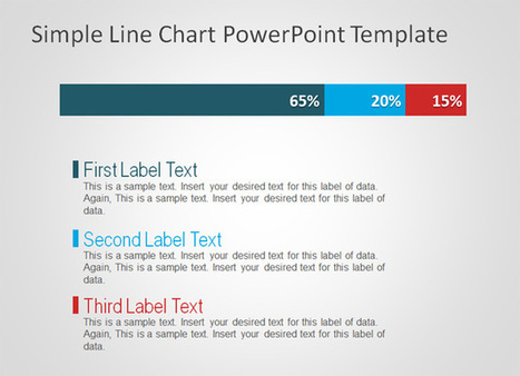 Free Simple Line Chart PowerPoint Template | facebook traffic | Scoop.it