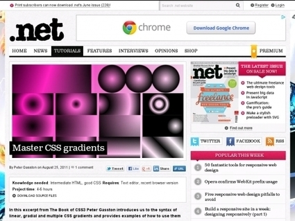 Maitriser les gradients en CSS3 (tutoriels et exemples) | Time to Learn | Scoop.it