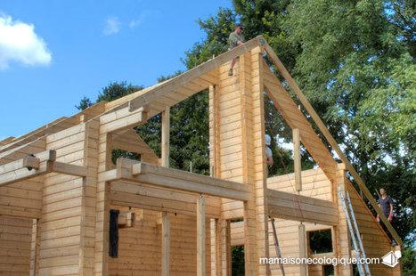 jour 37, charpente : pose des premiers chevrons « Ma Maison écologique ou la maison en bois | maisons bois | Scoop.it