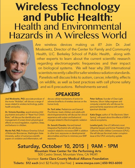 Wireless Technology & Public Health: Health and Environmental Hazards in a Wireless World // Santa Clara County Medical Association Alliance Foundation | Screen Time, Wireless, and EMF Research | Scoop.it