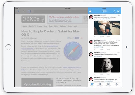 How to Use Slide Over Multitasking on iPad - OSXDaily | idevices for special needs | Scoop.it