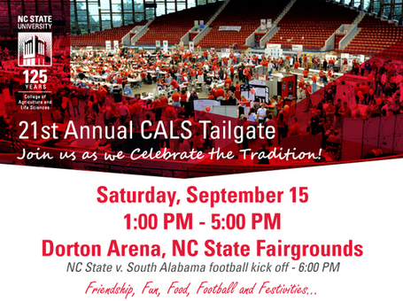 Join Us for the 21st Annual CALS Tailgate! | Research from the NC Agricultural Research Service | Scoop.it