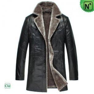 Mens Winter Shearling Sheepskin Coats CW877178 | Fur Trimmed Coats | Scoop.it