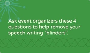 4 questions to ask event organizers before writing speeches for nonprofit leaders | Speeches that Matter | Scoop.it
