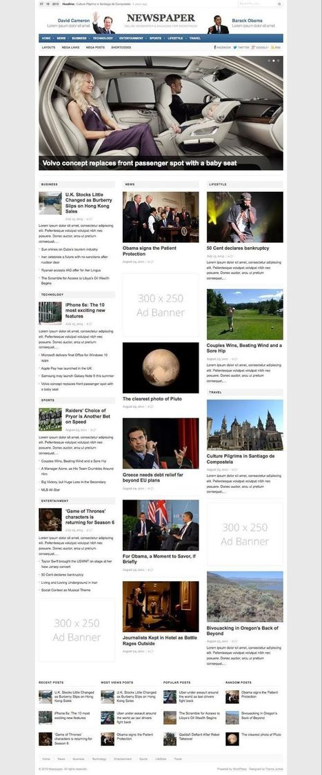 Newspaper 3.0 WordPress News & Magazine Theme   Erect a sound infrastructure   Scoop.it