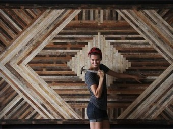 Brooklyn Designer Rescues Landfilled Wood for Stylish Geometric furniture | upcycling | Scoop.it