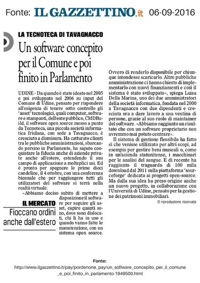 Un software concepito per il Comune finisce in Parlamento | CMDBuild | Scoop.it