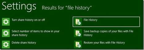 Windows 8, Step 0 - Turn on continuous backups via File History | Time to Learn | Scoop.it