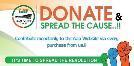 Buy Aam Aadmi Party Merchandise Online for AAP Supporters & Fans | PrintLand | Personalized Gifts | Scoop.it