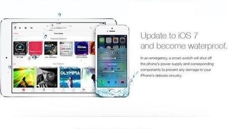 Un anuncio falso de iOS 7 hace que los usuarios sumerjan sus iPhone bajo el agua | Tecnología | Scoop.it