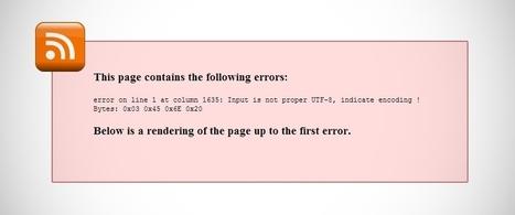Comment résoudre une erreur RSS dans WordPress   fabricecourt.com   Scoop.it