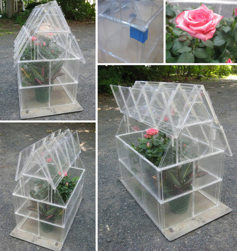 CD Case Greenhouse Tutorial | So You Think You're Crafty | VintageLifeStyle | Scoop.it