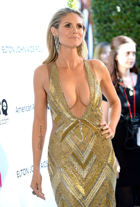 Breast Dressed: Heidi Klum Outfit for Elton John's Oscar Party | Nerd Vittles Daily Dump | Scoop.it