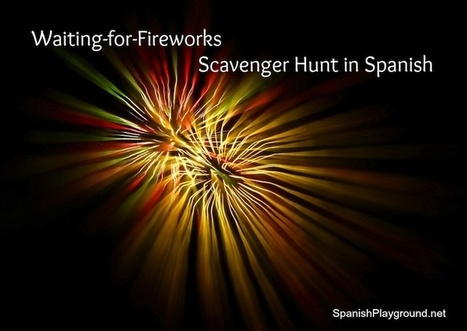 4th of July Scavenger Hunt in Spanish - Spanish Playground | Preschool Spanish | Scoop.it