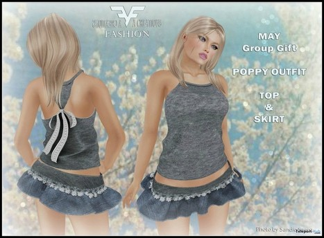 Poppy Outfit Top & Skirt May 2016 Group Gift by FA CREATIONS | Teleport Hub - Second Life Freebies | Second Life Freebies | Scoop.it