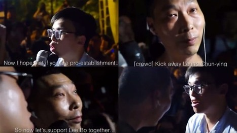 Video: Demosistō activist Oscar Lai ousts his two 'minders' during democracy protest, takes selfie | Hong Kong Free Press | What Fascinates Me About China | Scoop.it