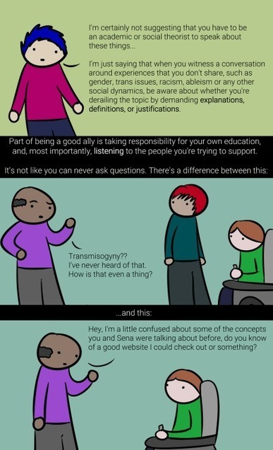 Simple comic explains how not to derail conversations about gender identity - Boing Boing | Diversity in Business | Scoop.it