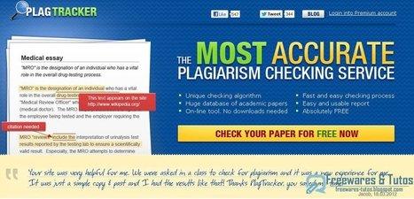 PlagTracker : un détecteur de plagiat en ligne | Time to Learn | Scoop.it