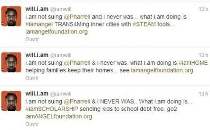 Will.i.am aurait-il porté plainte contre Pharrell Williams ? | MINUTESCOOP | Scoop.it