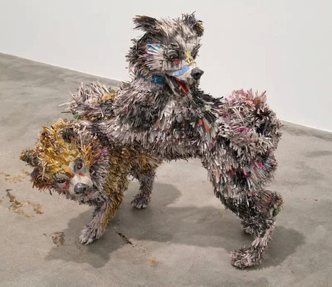 Junkculture: Impressive Paper Mache Sculptures of Dogs Gone Wild | Papier | Scoop.it