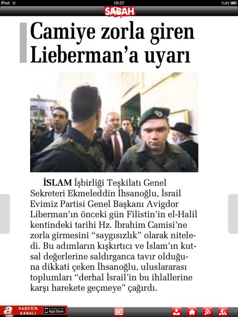 Camiye zorla giren liebermanna uyarı | haber toplantısı | Scoop.it