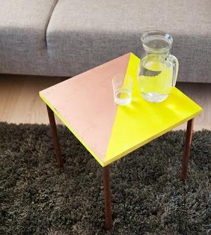 Initiales GG, une fille mais pas que...: DIY : une table d'appoint aux pieds cuivrés! | DIY DIY | Scoop.it