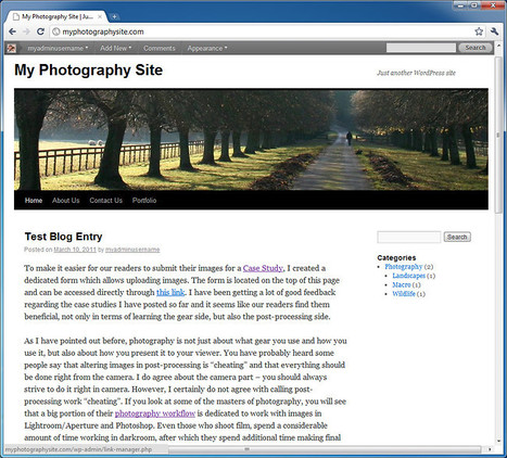 How to Create a Photography Blog – Part 3 | Photography Gear News | Scoop.it