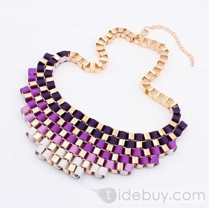 Western Exaggerated Gradient Color Lady's Alloy Fashion Necklace(4COLORS) | Bellaboy | Scoop.it