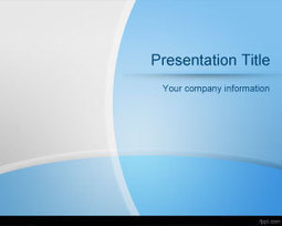 Curved Lines PowerPoint Template | Free Powerpoint Templates | ppt ggg | Scoop.it